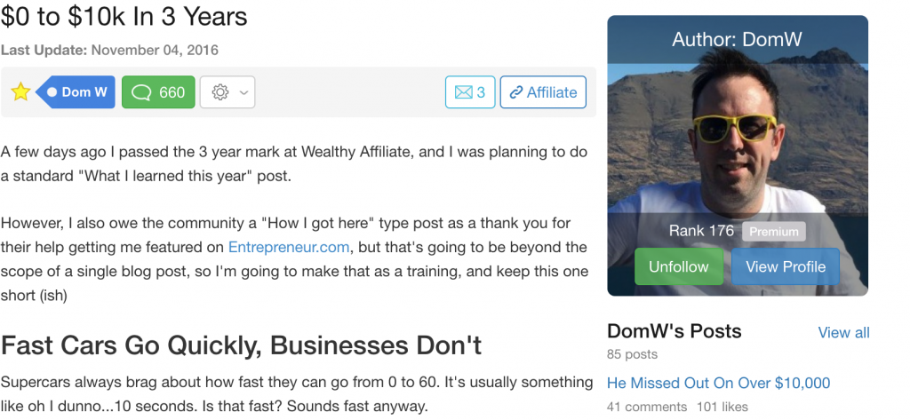 Wealthy Affiliate Review: I Nor Now, When?