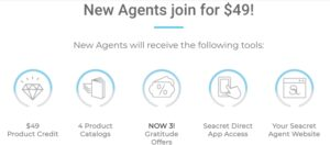Offer to new agents from Seacret company