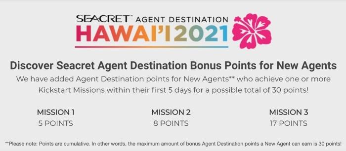 Seacret's offer for new agents